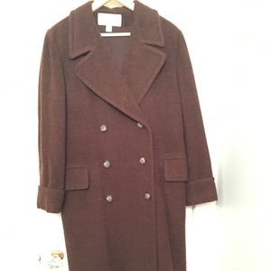 Classic Brown Wool/Alpaca Coat